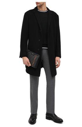 Мужская кожаный клатч mosaico SERAPIAN темно-серого цвета, арт. SM0SAMML7098M25T | Фото 2