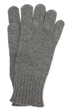 Мужские кашемировые перчатки CRUCIANI серого цвета, арт. MG5 | Фото 1