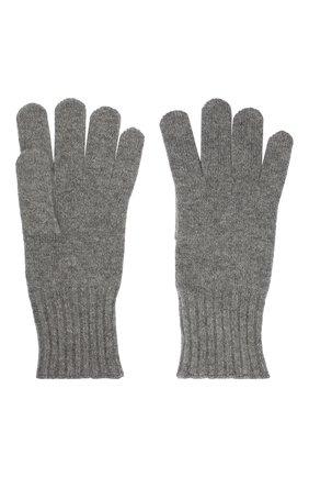 Мужские кашемировые перчатки CRUCIANI серого цвета, арт. MG5 | Фото 2