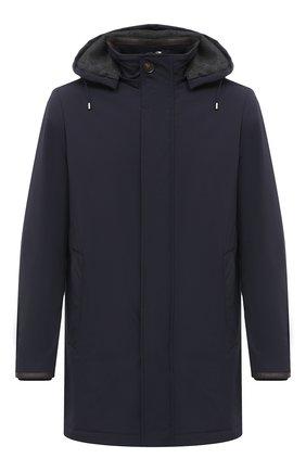 Мужская утепленное пальто LUCIANO BARBERA темно-синего цвета, арт. 117057/37114 | Фото 1