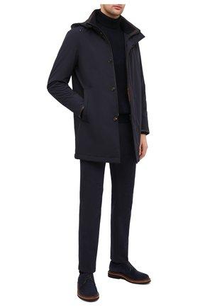 Мужская утепленное пальто LUCIANO BARBERA темно-синего цвета, арт. 117057/37114 | Фото 2