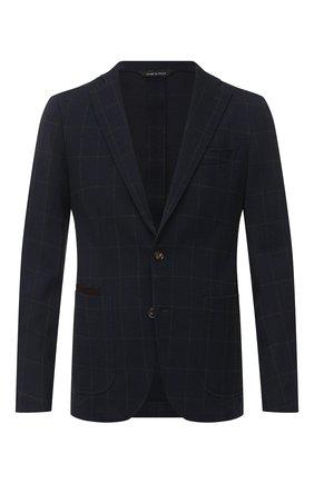 Мужской пиджак LUCIANO BARBERA темно-синего цвета, арт. 111210/19077 | Фото 1
