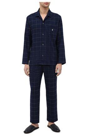 Мужская хлопковая пижама POLO RALPH LAUREN темно-синего цвета, арт. 714754038 | Фото 1