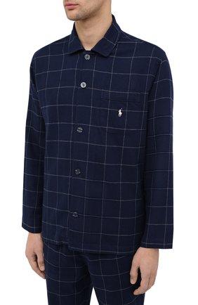 Мужская хлопковая пижама POLO RALPH LAUREN темно-синего цвета, арт. 714754038 | Фото 2