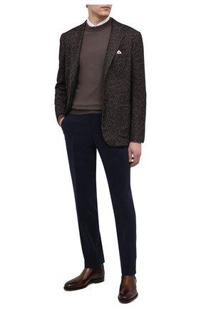 Мужские хлопковые брюки RALPH LAUREN темно-синего цвета, арт. 798819420 | Фото 2 (Материал подклада: Вискоза; Длина (брюки, джинсы): Стандартные; Материал внешний: Хлопок; Случай: Формальный; Стили: Классический)