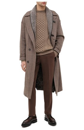 Мужской хлопковые брюки RALPH LAUREN коричневого цвета, арт. 798819420 | Фото 2