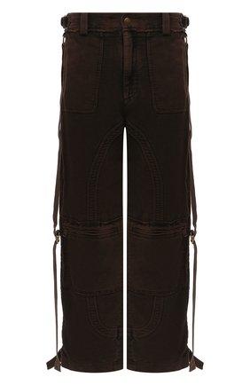 Мужской хлопковые брюки DOLCE & GABBANA коричневого цвета, арт. GWAJHT/G8DD0 | Фото 1