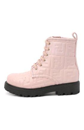 Детские кожаные ботинки FENDI розового цвета, арт. JMR338/AADS/32-39 | Фото 2