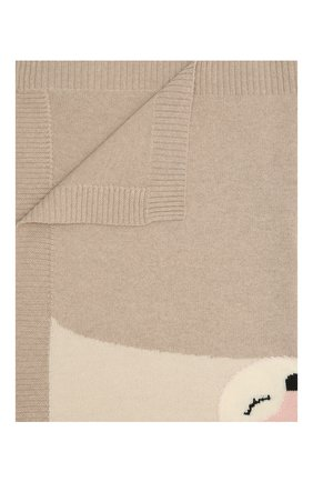 Детского шерстяное одеяло BABY T бежевого цвета, арт. 20AI172C0   Фото 1