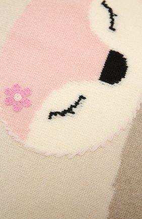 Детского шерстяное одеяло BABY T бежевого цвета, арт. 20AI172C0   Фото 2