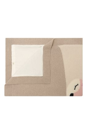 Детского шерстяное одеяло BABY T бежевого цвета, арт. 20AI172C0IMB   Фото 1