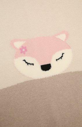 Детского шерстяное одеяло BABY T бежевого цвета, арт. 20AI172C0IMB   Фото 2