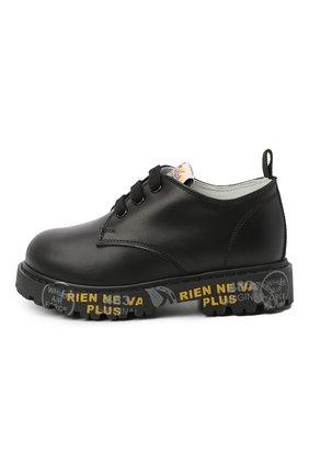 Детские кожаные туфли PREMIATA WILL BE черного цвета, арт. G0-URBAN/11-221470/T0D | Фото 2 (Материал внутренний: Натуральная кожа)