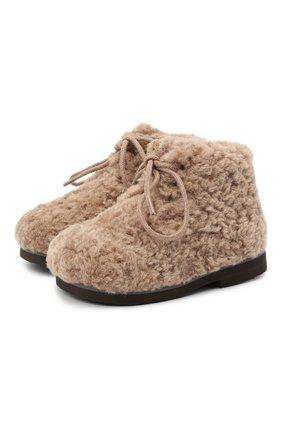 Детские ботинки AGE OF INNOCENCE бежевого цвета, арт. 000137/TEDDY JANE/20-26 | Фото 1