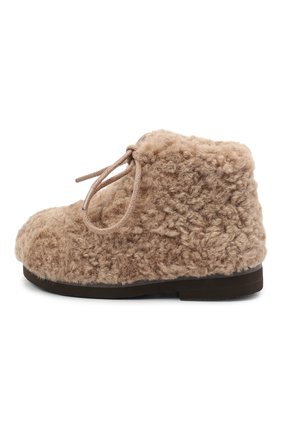 Детские ботинки AGE OF INNOCENCE бежевого цвета, арт. 000137/TEDDY JANE/20-26 | Фото 2
