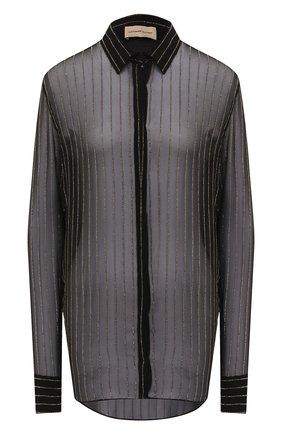 Женская шелковая блузка ALEXANDRE VAUTHIER черного цвета, арт. 203SH1300B 1316B-203 | Фото 1