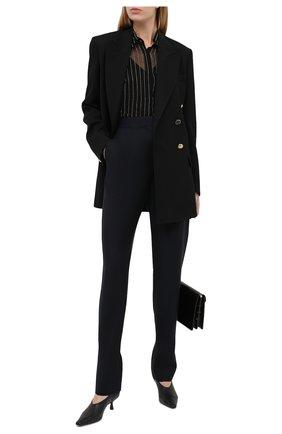 Женская шелковая блузка ALEXANDRE VAUTHIER черного цвета, арт. 203SH1300B 1316B-203 | Фото 2