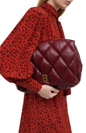 Женский клатч puffy BALENCIAGA бордового цвета, арт. 624947/1WN4M | Фото 2