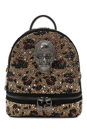 Женский рюкзак PHILIPP PLEIN коричневого цвета, арт. A20A WBA1276 PCO081N | Фото 1