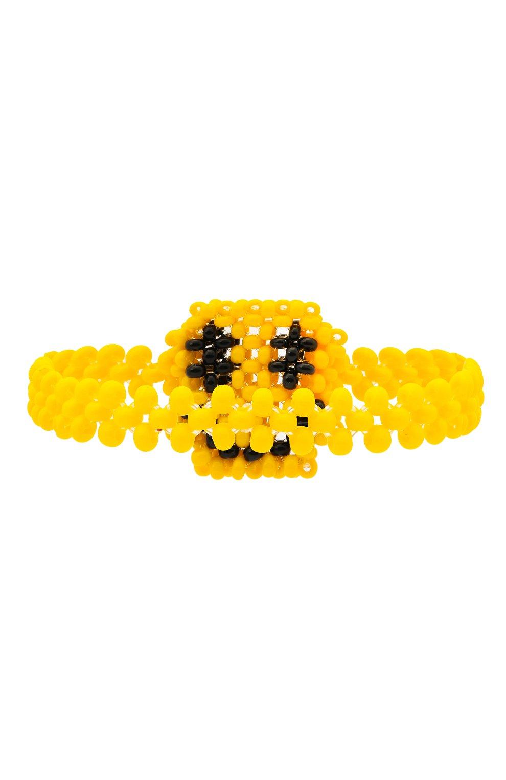 Женский браслет смайл HIAYNDERFYT разноцветного цвета, арт. 1402.5 | Фото 2 (Материал: Пластик)