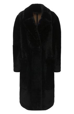 Женская шуба из овчины BURBERRY черного цвета, арт. 8032655 | Фото 1