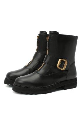 Женские кожаные ботинки TOD'S черного цвета, арт. XXW95B0DY80G0C | Фото 1