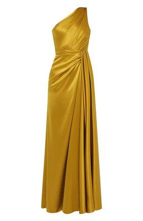 Женское шелковое платье DOLCE & GABBANA желтого цвета, арт. F6K20T/FU1NG | Фото 1