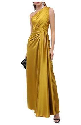 Женское шелковое платье DOLCE & GABBANA желтого цвета, арт. F6K20T/FU1NG | Фото 2