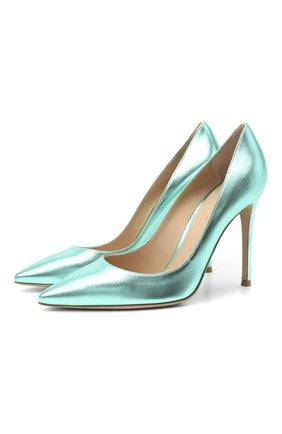 Женские кожаные туфли gianvito 105 GIANVITO ROSSI светло-зеленого цвета, арт. G28470.15RIC.NPSACMA | Фото 1