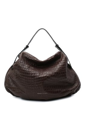 Женская сумка BRUNELLO CUCINELLI темно-коричневого цвета, арт. MB0TD2195 | Фото 1