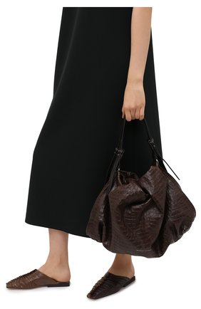 Женская сумка BRUNELLO CUCINELLI темно-коричневого цвета, арт. MB0TD2195 | Фото 2