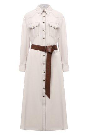 Женское шерстяное платье BRUNELLO CUCINELLI кремвого цвета, арт. MA163A4629 | Фото 1