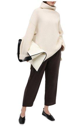 Женские кожаные брюки BRUNELLO CUCINELLI коричневого цвета, арт. M0TANP7486 | Фото 2