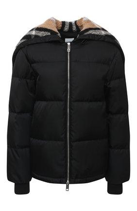 Женский пуховая куртка BURBERRY черного цвета, арт. 8036151 | Фото 1