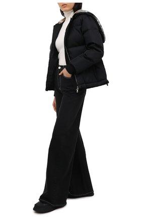 Женский пуховая куртка BURBERRY черного цвета, арт. 8036151 | Фото 2