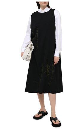 Женское шерстяное платье Y`S хаки цвета, арт. YR-D07-100   Фото 2