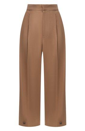 Женские шерстяные брюки Y`S бежевого цвета, арт. YB-P43-131 | Фото 1