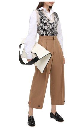 Женские шерстяные брюки Y`S бежевого цвета, арт. YB-P43-131 | Фото 2