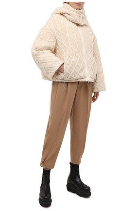 Женский пуховая куртка YOHJI YAMAMOTO белого цвета, арт. FB-J52-103   Фото 2