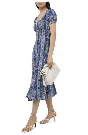 Женское хлопковое платье POLO RALPH LAUREN синего цвета, арт. 211811218 | Фото 2