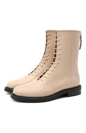 Женские кожаные ботинки LE GRES светло-бежевого цвета, арт. D126NA | Фото 1