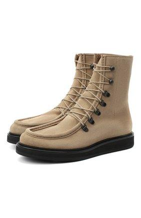 Женские замшевые ботинки LE GRES бежевого цвета, арт. D148CA | Фото 1