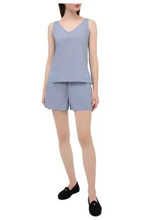 Женская хлопковая пижама DEREK ROSE голубого цвета, арт. 2023-LEDB037 | Фото 1