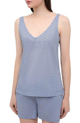 Женская хлопковая пижама DEREK ROSE голубого цвета, арт. 2023-LEDB037 | Фото 2