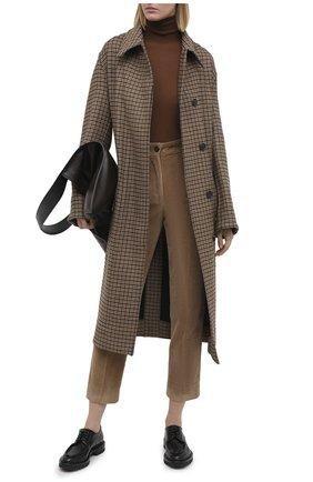 Женская кожаные дерби SANTONI черного цвета, арт. WUCR59018HL1NBCKN01 | Фото 2