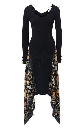 Женское шерстяное платье LANVIN темно-синего цвета, арт. RW-DR332M-MI16-H20 | Фото 1