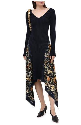 Женское шерстяное платье LANVIN темно-синего цвета, арт. RW-DR332M-MI16-H20 | Фото 2