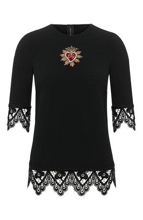 Женская топ DOLCE & GABBANA черного цвета, арт. JAWA0Z/FURDV | Фото 1