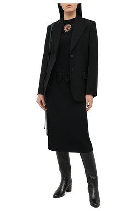 Женская топ DOLCE & GABBANA черного цвета, арт. JAWA0Z/FURDV | Фото 2