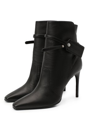 Женские кожаные ботильоны OFF-WHITE черного цвета, арт. 0WIA233E20LEA0011000 | Фото 1